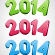 Happy new year 2014 message — Vector de stock