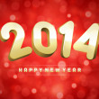 Happy new year 2014 message from light — Stock Vector