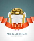 Gift box and light christmas — Stock Vector