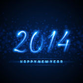 Happy new year 2014 message — Stock Vector