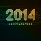 Mutlu yeni yıl 2014 mesajı — Stok Vektör