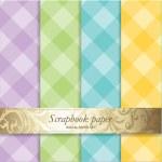 Colorful Backgrounds set - Scrapbook paper — Stock Vector