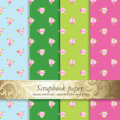 Colorful Backgrounds set - Scrapbook paper — Stok Vektör