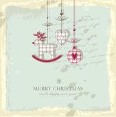 Vánoční přání s kopií prostor — Stock vektor