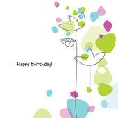Cartão de aniversário com espaço de cópia — Vetorial Stock