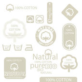 Cotton labels — Stock Vector