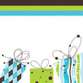 Birthday card with copy space — Vetor de Stock