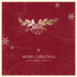 图库矢量图片: Christmas card with copy space