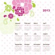 Royalty-Free Stock Vector Image: New year calendar 2013