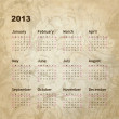 New year calendar 2013 - Vettoriali Stock 