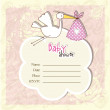 Stock Vector: Baby shower card
