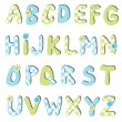 Stock Vector: Alphabet set