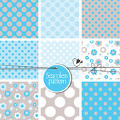 Set of cute seamless patterns  — Stock Vector