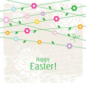 Easter card - greeting card with copy space  — Stock Vector