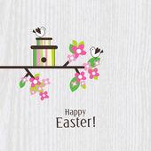 Paskalya kartı - kopya alanı ile tebrik kartı — Stok Vektör