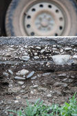 Section of the road surface — Stockfoto