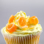 Cupcake mit Zitronen-Buttercreme — Stockfoto