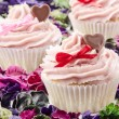 Royalty-Free Stock Photo: Valentine cupcake with heart and bow