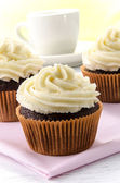 Chocolate cupcake with lemon buttercream — Stock Photo