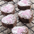 Valentine cookie with pink shimmer — Stock Photo #17474277