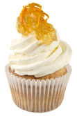 Cupcake with orange jam — Stock fotografie