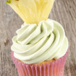 Cupcake with mint buttercream — Stock Photo
