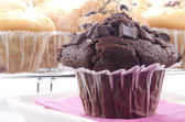 Double chocolate muffin — Stok fotoğraf