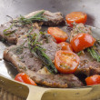 Lamb chops with tomato - ストック写真