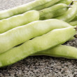 Organic broad beans  — Stock Photo