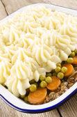 Cottage pie with mashed potato — Stock Photo