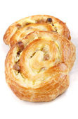 Danish pastry on a bright background — Stock Photo
