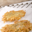 Hash brown on kitchen paper — Stock Photo