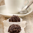 Cocoa praline with chocolate sprinkle — Stock Photo