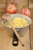 Freshly home made apple compote — Stock Photo