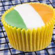 Vanillcupcake with irish colours — Stock Photo #36361661