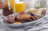 All day irish breakfast on a plate — Stock Photo