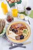 Breakfast in northern ireland ulster fry — Stock Photo