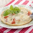 Mediterranean omelette in on a plate — Stock Photo #44952029