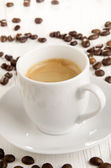 Fresh made expresso in a cup — Stock Photo