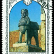 Vintage postage stamp. Bronze Figure. — Stock Photo