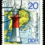Vintage postage stamp. Lighthouse Sassnitz. — Stock Photo
