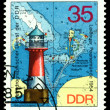 Vintage postage stamp.  Lighthouse  Peenemunde. — Stock Photo