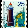 Vintage postage stamp.  Lighthouse  Dornbusch. — Stock Photo