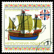 Vintage  postage stamp. Hansa Kogge. — Stock Photo