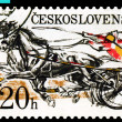 Vintage  postage  stamp. Sulky Race. - Stock Photo