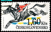 Vintage postage stamp. Hurdling. — Stock Photo