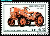 Vintage postzegel. chungsong trekker. — Stockfoto