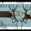 Vintage  postage stamp. Superimposed  Double-Barreled  Gun . 197 - Stock Photo