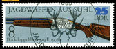 Vintage postage stamp. Superimposed Double-Barreled Gun . 197 — Stock Photo