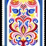 Vintage postage stamp. Ornament. 5. — Stock Photo #17381825